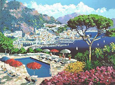"Kerry Hallam Handsigned & Numbered Limited Edition Serigraph:""Ravello """