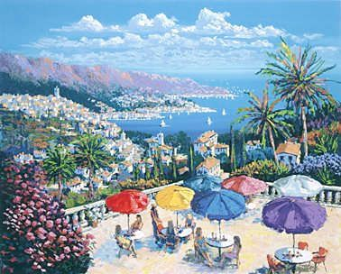 """Kerry Hallam Handsigned & Numbered Limited Edition Serigraph:""""Sur la Cote """""""