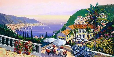 """Kerry Hallam Limited Edition Hand-Pulled Serigraph: """" Crescent Bay """""""