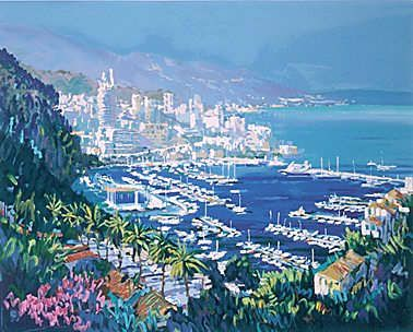 """Kerry Hallam Limited Edition Hand-Pulled Serigraph on Paper: """" Monte Carlo """""""