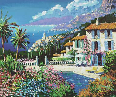 "Kerry Hallam Limited Edition Hand-Pulled Serigraph on Paper: "" Paradiso """