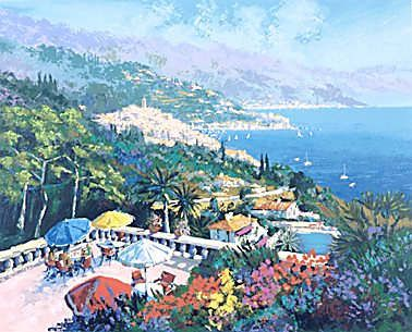 """Kerry Hallam Limited Edition Hand-Pulled Serigraph: """" Sur la Terrace """""""