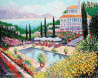 "Kerry Hallam Limited Edition Multiple Oil Painted Originals of Canvas: "" Bella Vista """