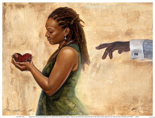 """Kevin A. Williams (WAK) Limited Edition Signed Lithograph Ed. 850:""""Love Will Come"""""""