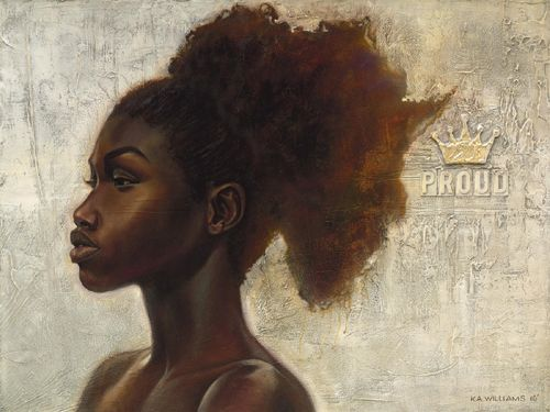 """Kevin A. Williams (WAK) Limited Edition Signed Lithograph Ed. 850:""""Proud Africa"""""""