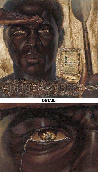 """Kevin A. Williams (WAK) Limited Edition Signed Lithograph Ed. 850:""""The Worst Sight (Male)"""""""