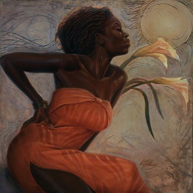 """Kevin A. Williams (WAK) Limited Edition Signed & Numbered Offset Lithograph:""""African Lilies"""""""