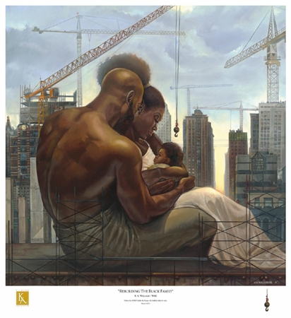 """Kevin A. Williams (WAK) Signed and Numbered Limited Edition Print:""""Rebuilding the Black Family"""""""