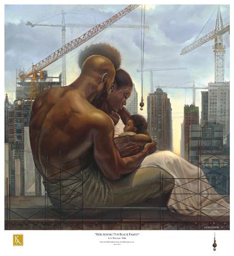"Kevin A. Williams (WAK) Signed and Numbered Limited Edition Print:""Rebuilding the Black Family"""