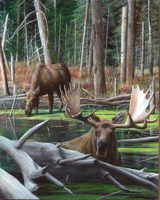 """Kevin Daniel Hand Signed and Numbered Limited Edition Giclee: """"At Water's Edge"""""""