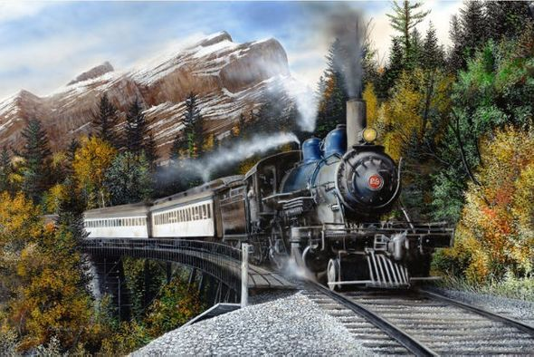 "Kevin Daniel Hand Signed and Numbered Limited Edition Giclee: ""Autumn Express"""