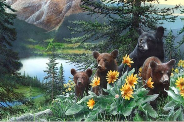 """Kevin Daniel Hand Signed and Numbered Limited Edition Giclee: """"Basking in the Balsamroot"""""""