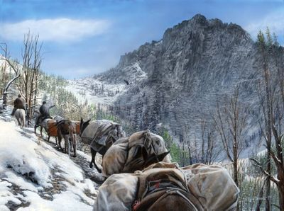 """Kevin Daniel Hand Signed and Numbered Limited Edition Giclee: """"Big Horn pass"""""""