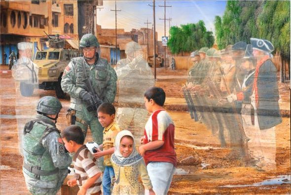 """Kevin Daniel Hand Signed and Numbered Limited Edition Giclee: """"Generations of Service"""""""