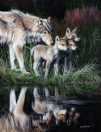 """Kevin Daniel Hand Signed and Numbered Limited Edition Giclee: """"Reflections"""""""