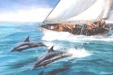 """Kevin Daniel Hand Signed and Numbered Limited Edition Giclee: """"Sailing The Wind"""""""