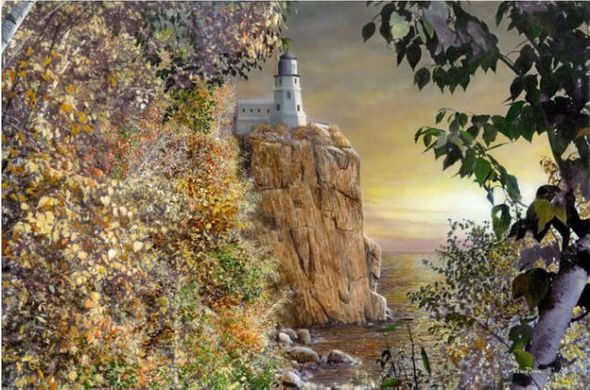 "Kevin Daniel Hand Signed and Numbered Limited Edition Giclee: ""Sunrise at Splitrock"""