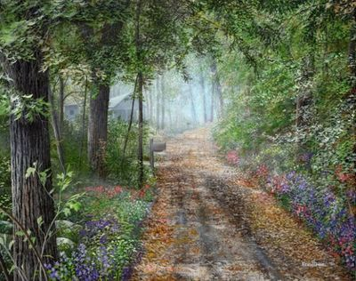 """Kevin Daniel Hand Signed and Numbered Limited Edition Giclee: """"The Country Road """""""