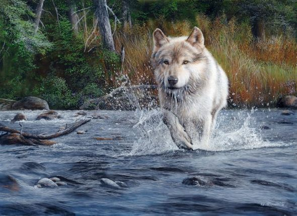 """Kevin Daniel Hand Signed and Numbered Limited Edition Giclee: """"The Crossing"""""""