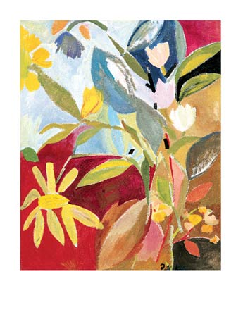 """Kim Parker Signed and Numbered Limited Edition Giclée on Somerset Velvet Paper:""""Garden With Daffodils"""""""