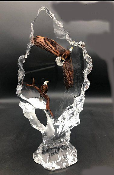 """Kitty Cantrell Limited Edition Lucite Sculpture:""""Faithful (Eagles)"""""""