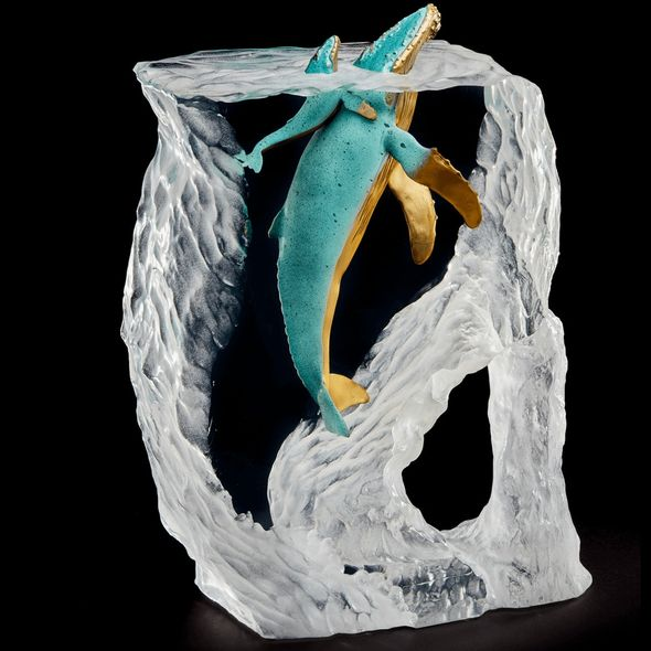 "Kitty Cantrell Limited Edition Hot Patina Mixed Media Sculpture:""Breath of Life"""