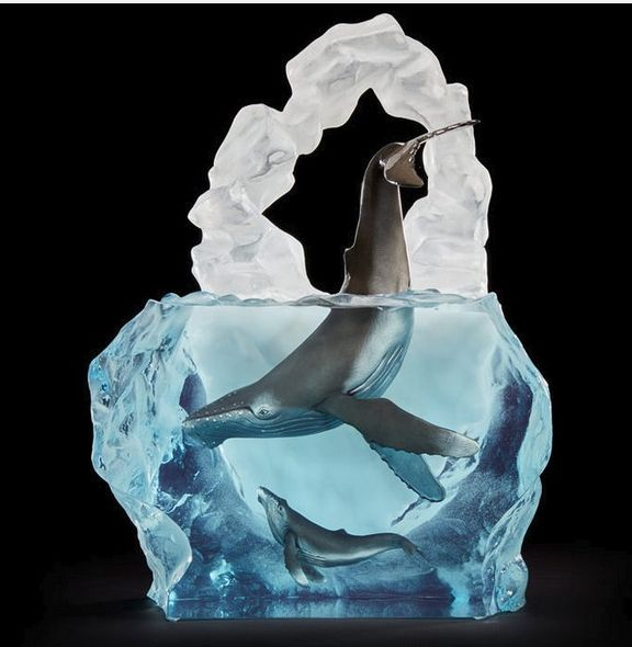 """Kitty Cantrell Limited Edition Whale Sculpture: """"Kindred Souls"""""""
