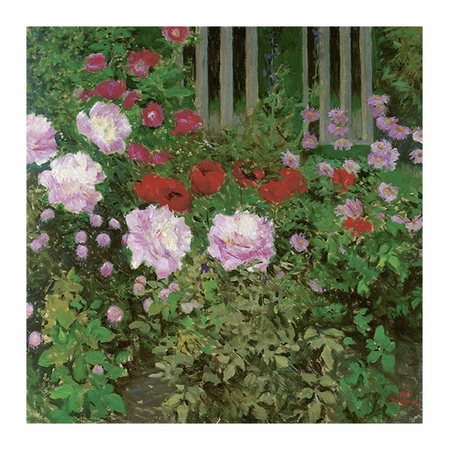 "Koloman Moser Fine Art Open Edition Giclée:""Flowers and Garden Fence"""