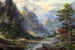 "Thomas Kinkade Limited Edition Giclee on Paper and Canvas:""High Country Wilderness"""