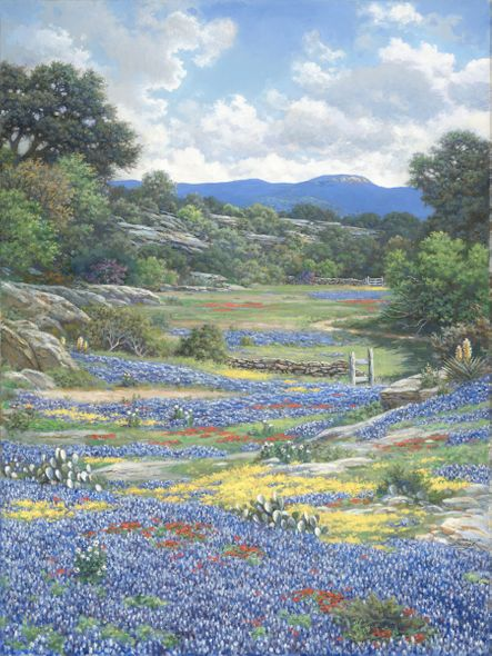 """Larry Dyke Hand Signed and Numbered Limited Edition Giclee:""""Don't Fence Me In"""""""