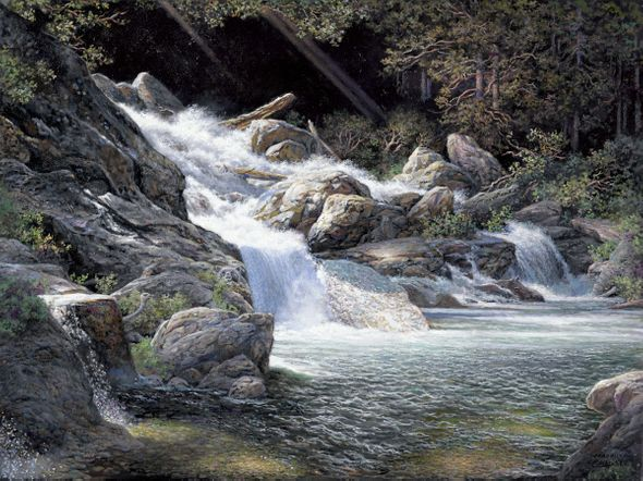 """Larry Dyke Hand Signed and Numbered Limited Edition Giclee Print:""""Living Water"""""""