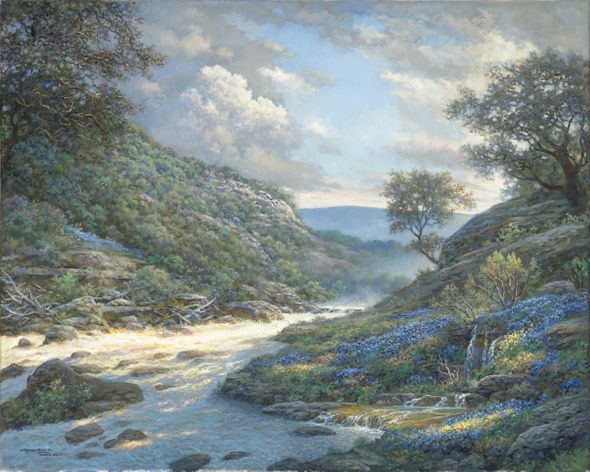 """Larry Dyke Hand Signed and Numbered Limited Edition Giclee:""""Shadows on the River"""""""