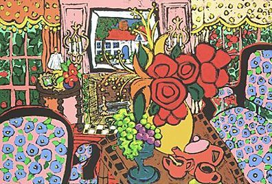 """Laurie Zeszut Limited Edition Serigraph on Paper:""""Afternoon Tea"""""""