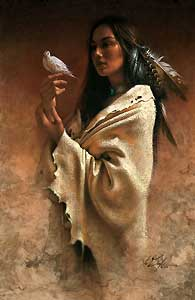 """Lee Bogle Handsigned and Numbered Limited Edition Giclee on Canvas:""""Peace"""""""