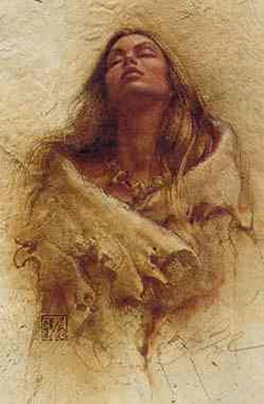 "Lee Bogle Open Edition Print: ""Stirring Thoughts"""