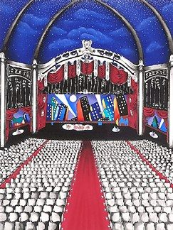 "Linnea Pergola Limited Edition Serigraph on Paper: ""Dress Rehearsal"""