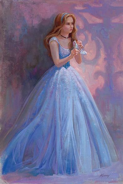 """Lisa Keene Signed and Numbered Hand-Textured Giclée on Canvas: """"Glass Slipper"""""""