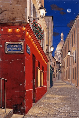 """Liudmila Kondakova Handsigned and Numbered Limited Edition Hand-Crafted Stone Lithograph: """"Rue des Saules"""""""