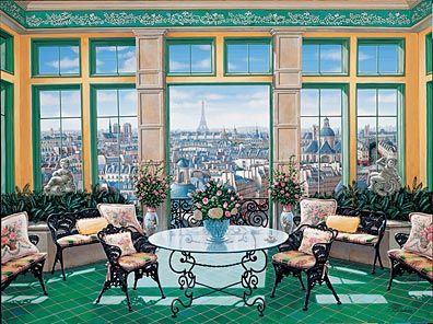 """Liudmila Kondakova Handsigned and Numbered Limited Edition Serigraph on Gesso Board:""""Room with a View"""""""
