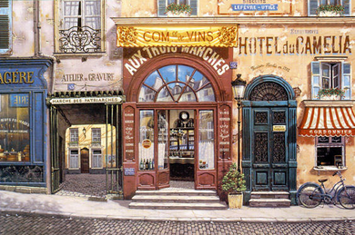 """Liudmila Kondakova Signed And Numbered Limited Edition Serigraph on Coventry Smooth White Paper :""""Hotel Du Camelia """""""