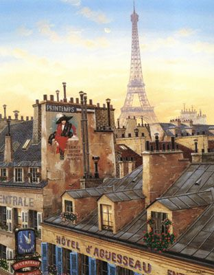 "Liudmila Kondakova Signed And Numbered Limited Edition Serigraph on Coventry Smooth White Paper :""Paris Morning """