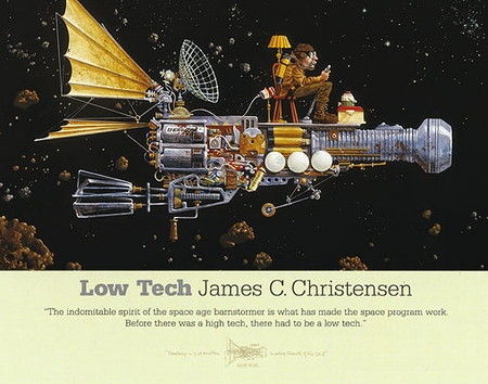 "James Christensen Open Edition Print:""Low Tech"""