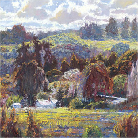 """Lois Johnson Signed and Numbered Limited Edition Giclée on Museo Paper:""""Sheltered Valley II"""""""
