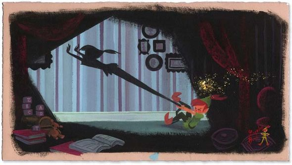 """Lorelay Bove Signed and Numbered Giclée on Paper: """"Peter's Shadow"""""""