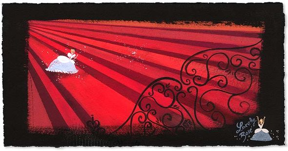 """Lorelay Bove Signed and Numbered Giclée on Paper: """"Red Staircase"""""""