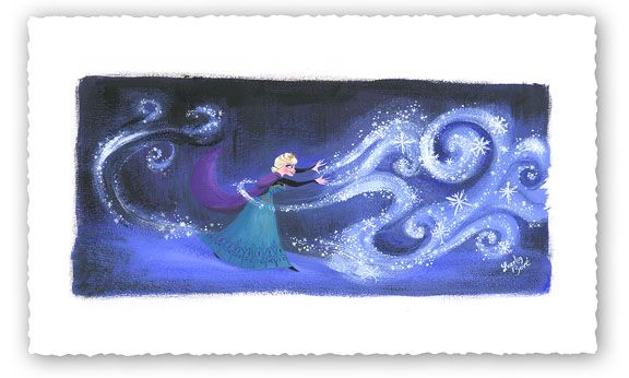 "Lorelay Bove Signed and Numbered Limited Edition Giclée on Paper:""Swirls of Snowy Magic"""