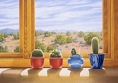"""Lorna Patrick Limited Edition Serigraph on Paper: """" Cactus """""""