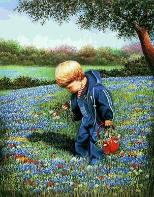 """Louita Irby Limited Edition Print: """"Pulling Flowers For Momma"""""""