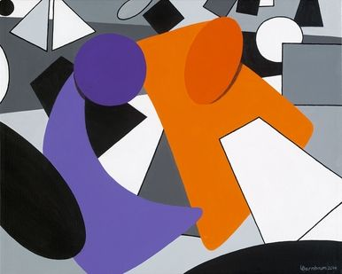"""Lynne Bernbaum Limited Edition Museum Quality Giclée: """"Perspective In Perspective - Tease"""""""