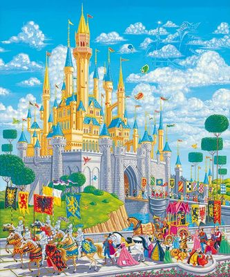 """Manny Hernandez Signed and Numbered Giclée on Canvas: """"A Royal Afternoon"""""""